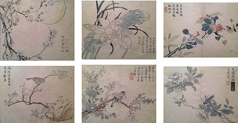 Japon, KUNISADA Utagawa (1786-1865). Oiseaux