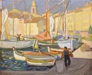 PERROT Charles Philippe (1893-1964). Port de St.Tropez