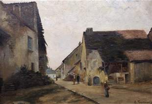 TOURNIER A. (XIX-XXe). Ruelle de village