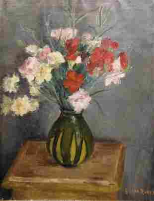 VON HUECK Georges (1904-1964). Bouquet de fleurs