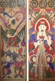 Chine, XVIII-XIXe.  Dignitaire et Demon