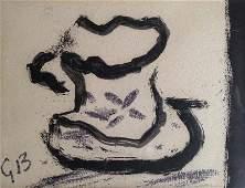 BRAQUE Georges (1882-1963). La petite tasse