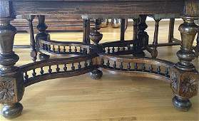 Travail Italien, XVI-XVIIe. Table de salle a manger