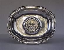 Orfevrerie suisse, XXe. Vide-poche avec piece