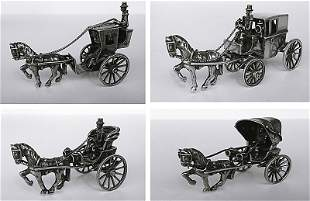 Orfevrerie hollandaise, XVIII-XIXe. 4 Miniatures de