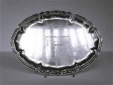 Orfevrerie suisse, XXe. Plat ovale