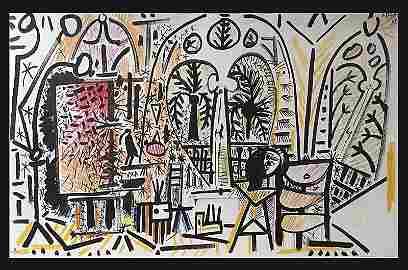 PICASSO Pablo (1881-1973).  L'Atelier