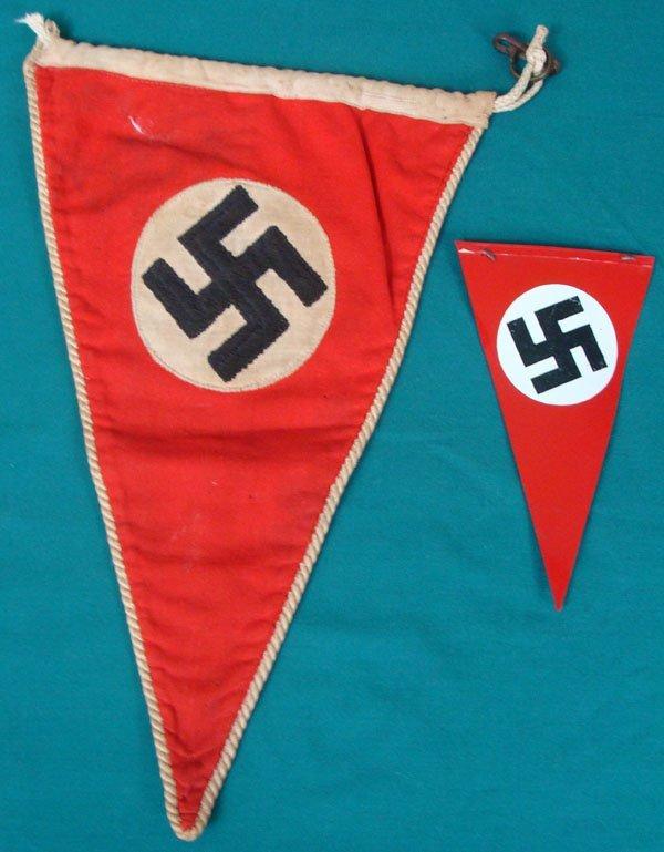 6: Two German WWII Pennants
