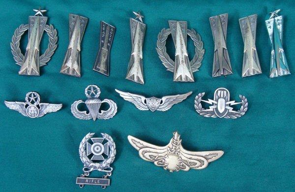 18: Set of US Military Badges/Pins