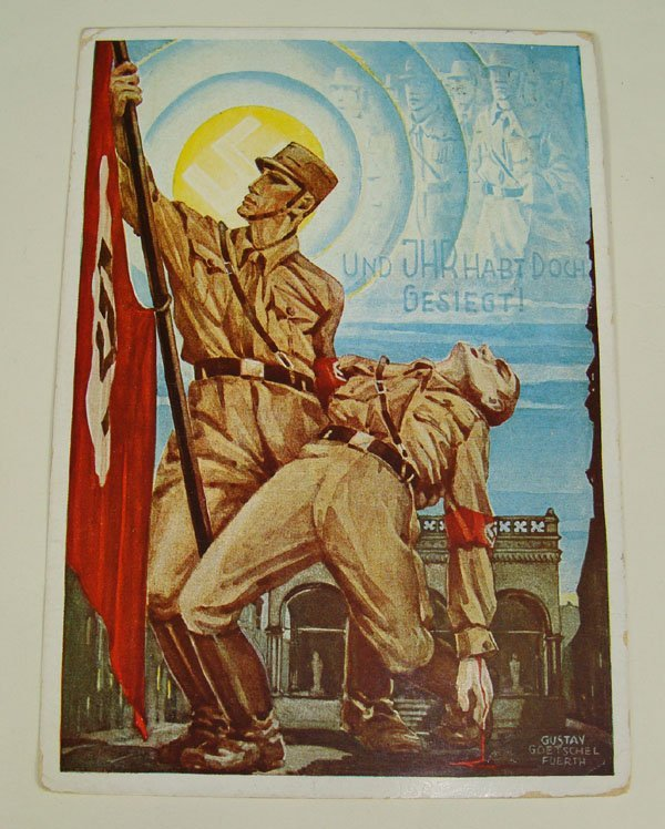 4: German Nazi WWII Propaganda Post Card