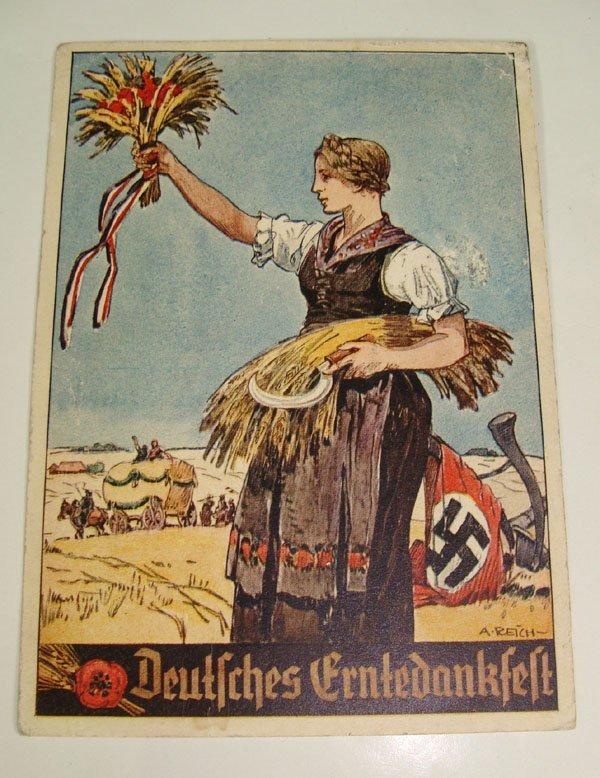 5: German Nazi WWII Propaganda Post Card