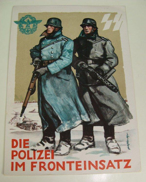 7: German Nazi WWII Propaganda Post Card