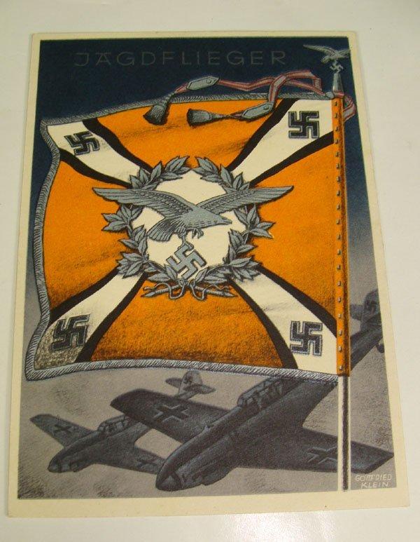 9: German Nazi WWII Propaganda Post Card