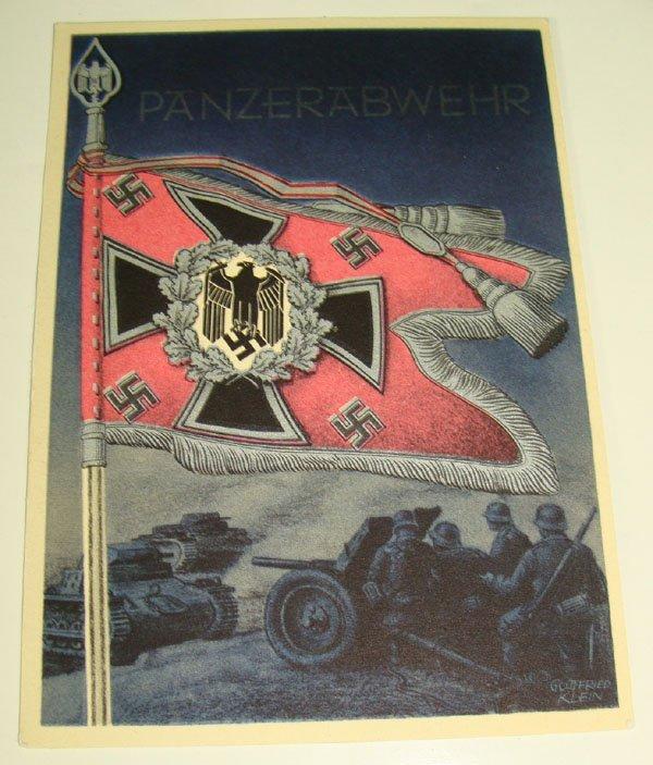 10: German Nazi WWII Propaganda Post Card