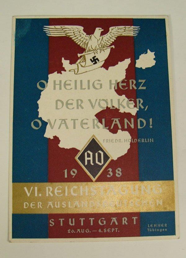 11: German Nazi WWII Propaganda Post Card