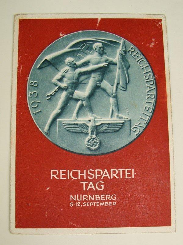 12: German Nazi Reichspartei Post Card