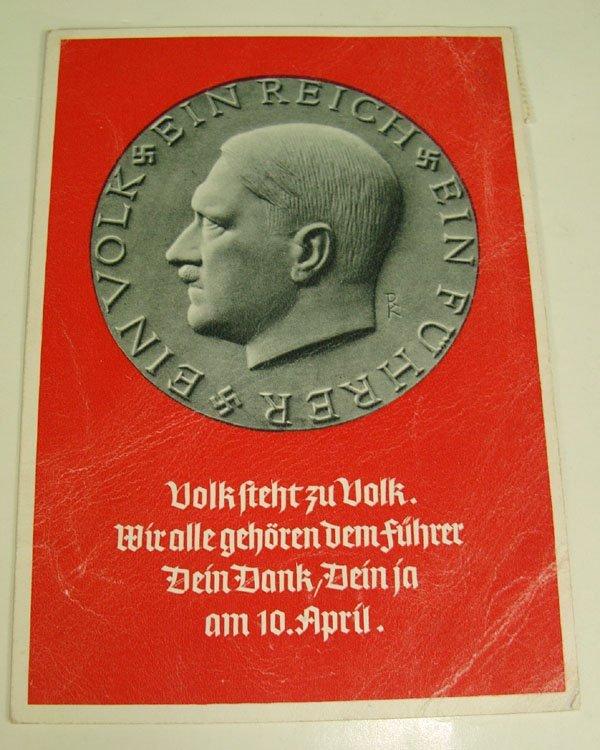13: German Nazi WWII Post Card