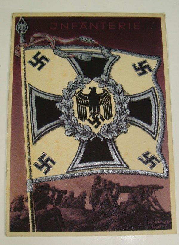 15: German Nazi WWII Infantry Post Card