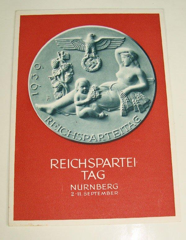 16: German Nazi WWII Reichspartei Post Card