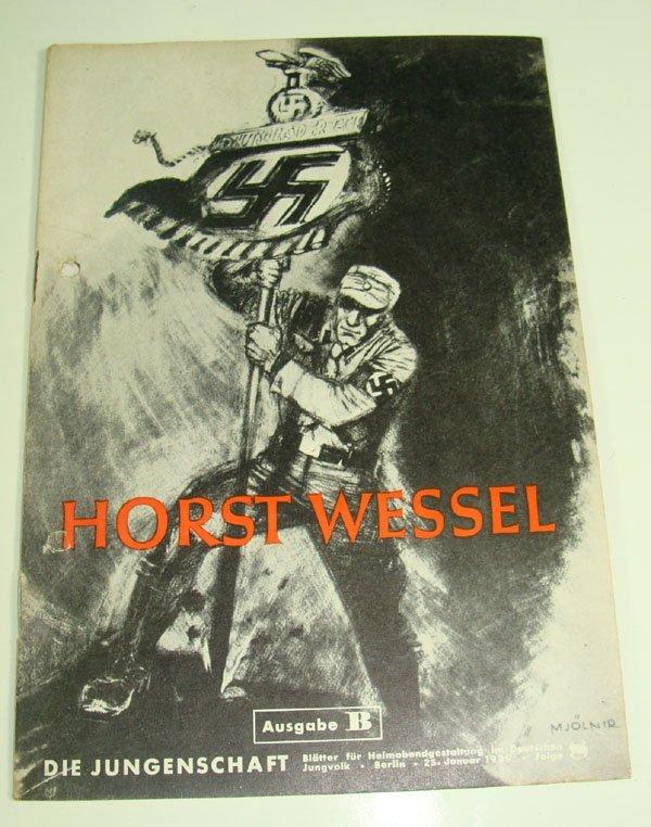 "23: German WWII ""Horst Wessel"" Propaganda Magazine"