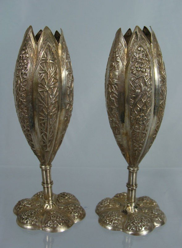 6: Two Chinese Silver Vases