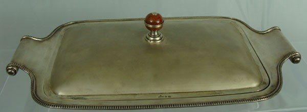 8: Antique Russian Sterling Cover Dish Marked Faberge