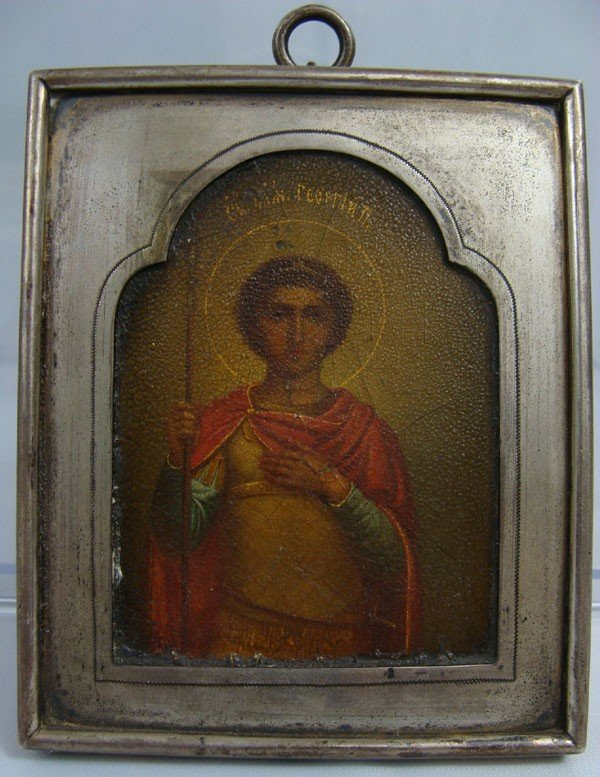9: Antique 19th Century Russian Icon