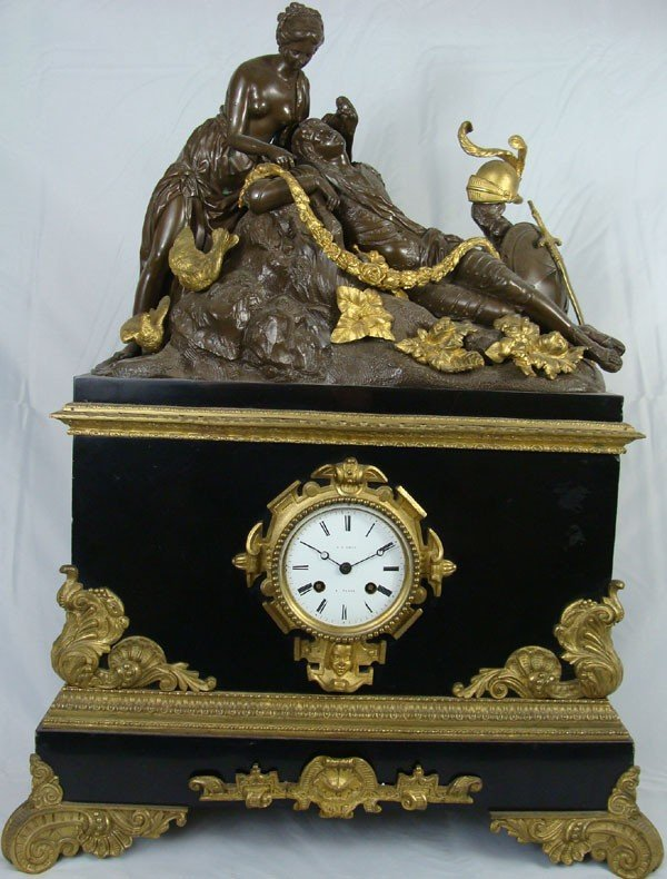 20: Antique 19th Century French Bronze Clock