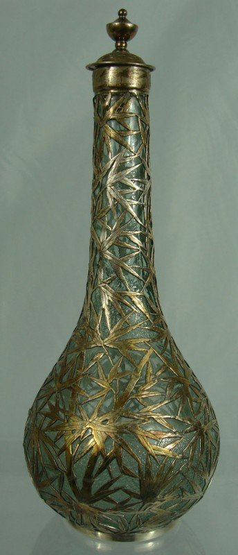 21: Japanese Sterling and Glass Vase