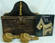 147: 19th Century British Naval Hat and Pair of Epaulet