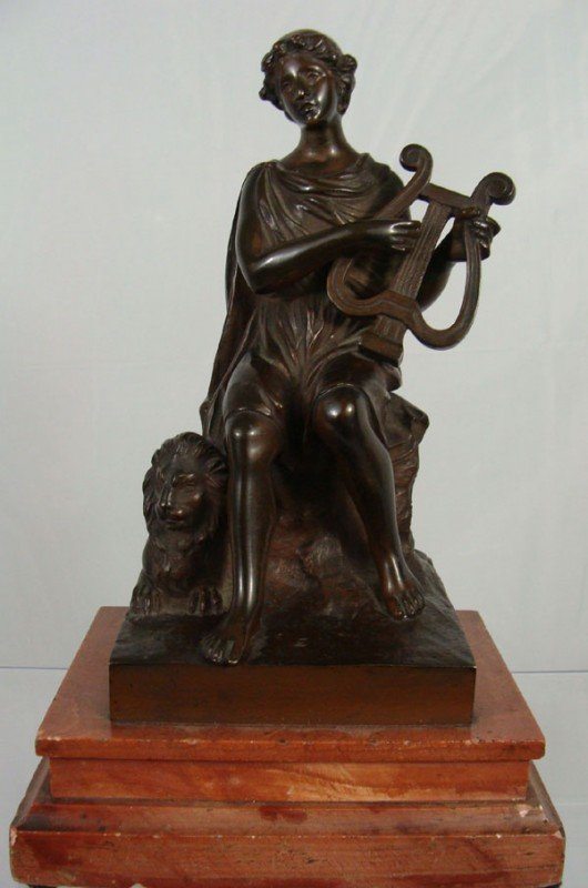 20A: French 19th Century Bronze Statue of a Woman