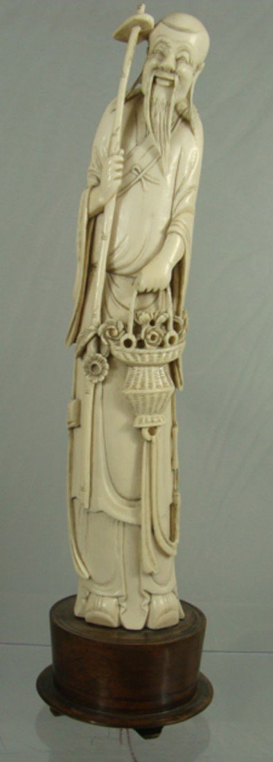 2: Chinese Carved Ivory Old Man Figure