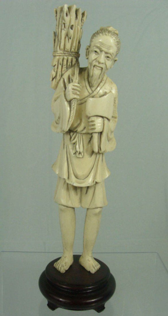 7: Chinese Carved Ivory Old Man Figure