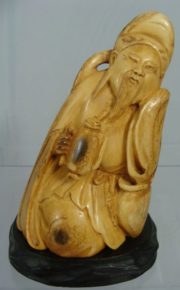 9: Chinese Carved Ivory Monk Figure