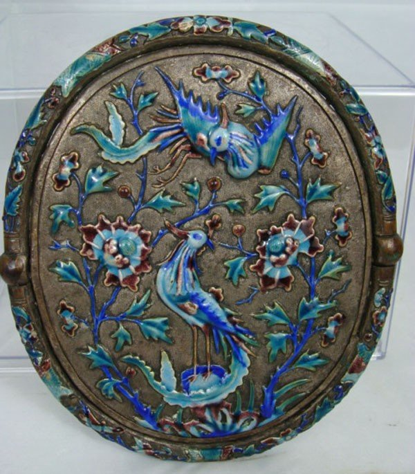 20: Antique Chinese Enameled Mirror
