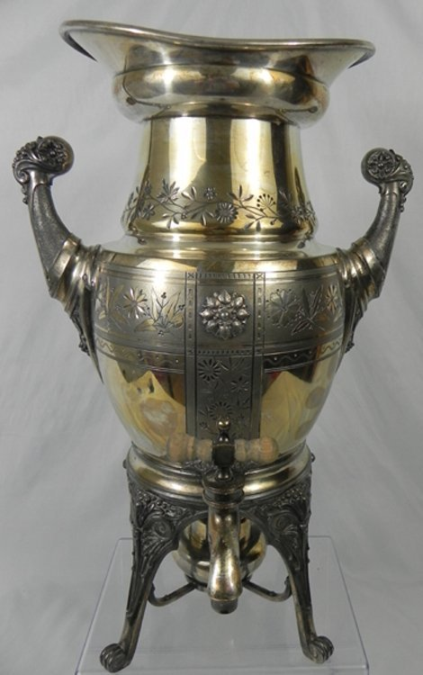 1: Antique Sheffield Silverplate Urn