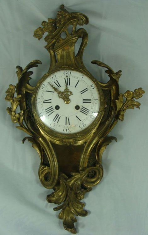 8: Antique French Bronze Figural Wall Clock By Vincnti