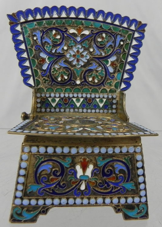 10: Antique Russian Enameled Chair