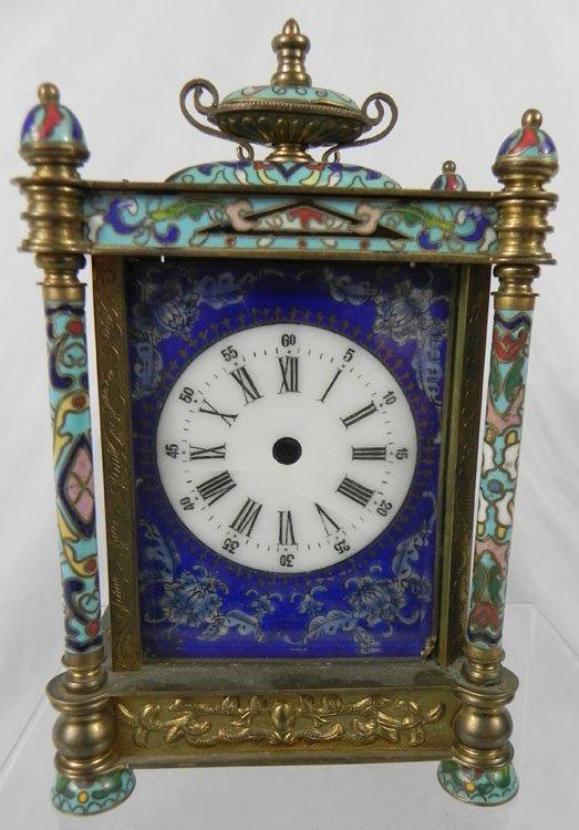 17: Antique Chinese Enameled Clock Case