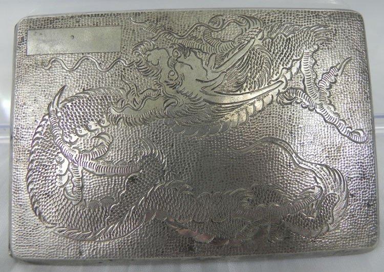 21: Antique Chinese Silver Cigarette Case