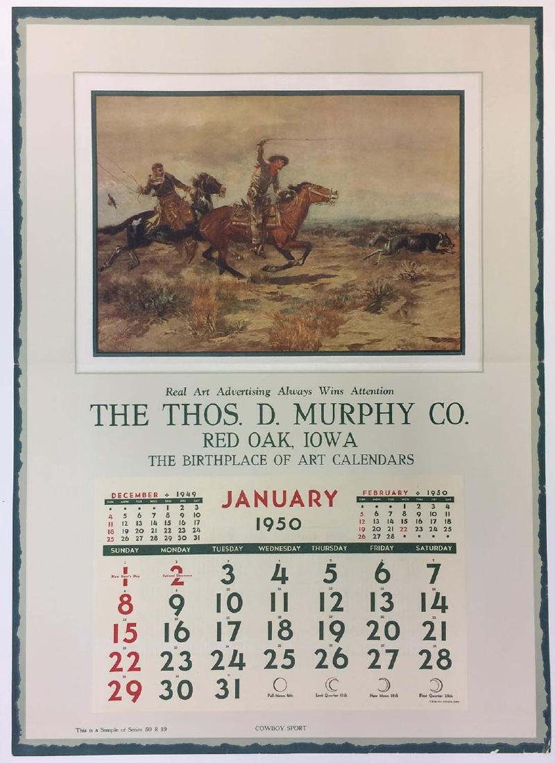 Set of four historic Thos. D. Murphy Co. calendar