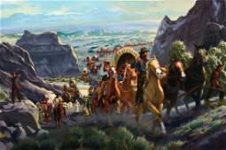 Through Echo Canyon to the Great Salt Lake, the Mormon