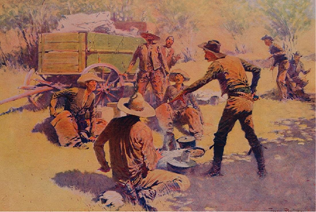 Frederic Remington - Bringing Home the New Cook