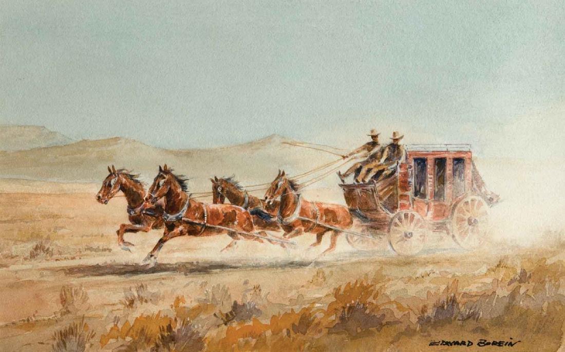 (John) Edward Borein - Stagecoach
