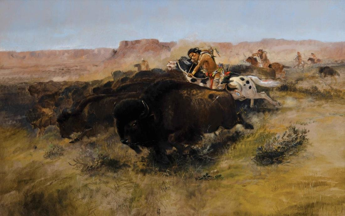 Charles M. Russell - Buffalo Hunt #7
