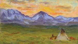 Joseph Henry Sharp - Blackfoot Camp