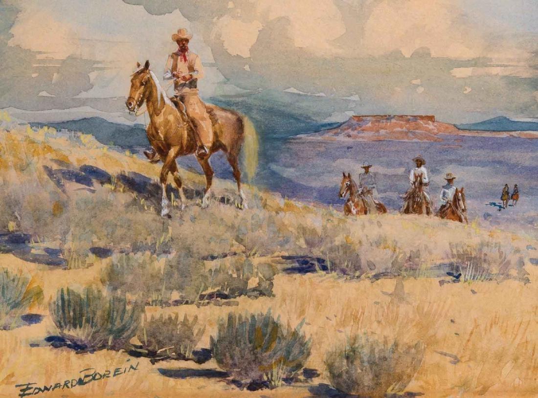 (John) Edward Borein - Cowboys in a Southwest Landscape