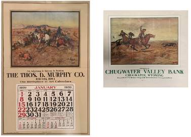 Set of two historic calendars