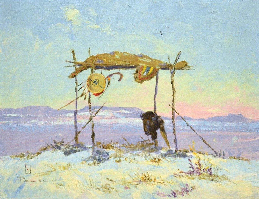 103: Burial Platform, Chief Buffalo Horn