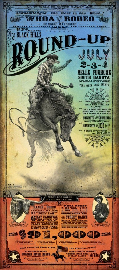 123: 2011 Black Hills Roundup - Rodeo Poster